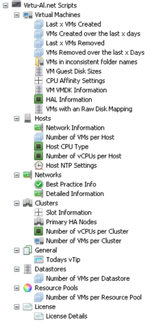 Left-hand tree from Virtu-Al's VESI/PowerGUI virtualization management tool