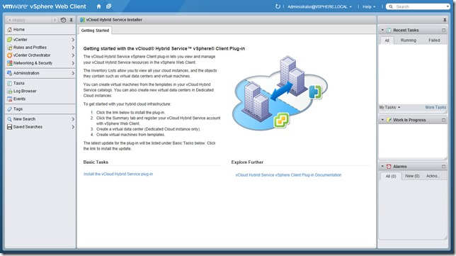 Installing the vCloud Hybrid Service Web Client Plugin