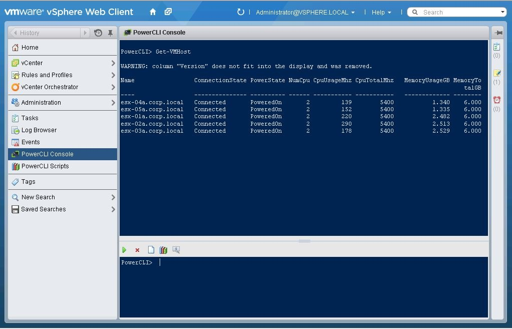 PowerCLI in the vSphere Web Client–Announcing PowerActions