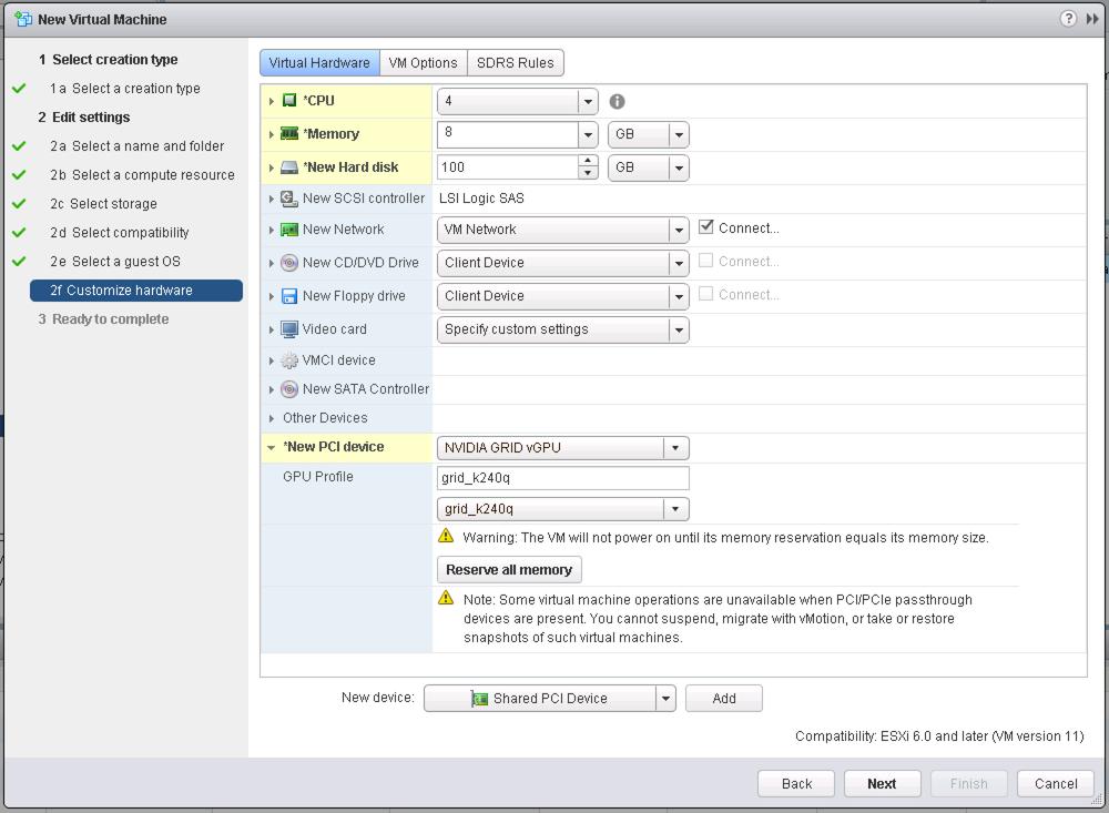 Adding a vGPU For a vSphere 6 0 VM via PowerCLI - Virtu-Al Net